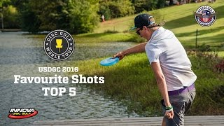 top 5 shots of us disc golf championship 2016