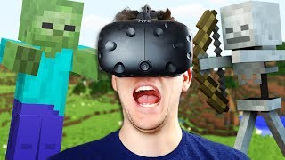 VR Minecraft Experience! - Vivecraft Gameplay - Vivecraft VR HTC Vive