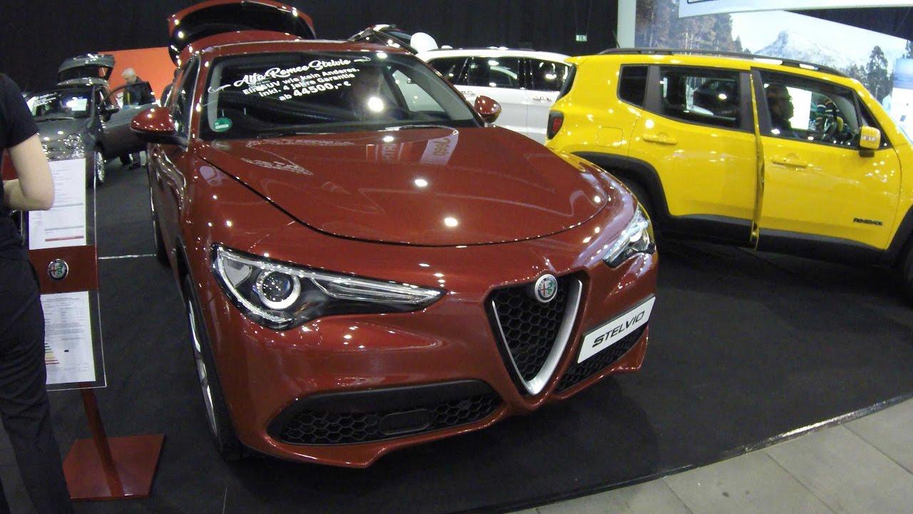 Alfa Romeo Stelvio Q4 New Model 2017 Red Colour Walkaround