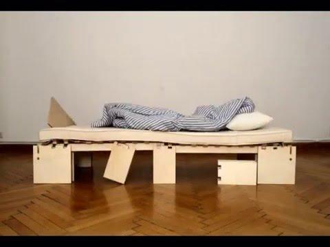 H fele verwandlung vom gem tlichen sofa zum praktisch doovi - Schrankbett bs mobel ...