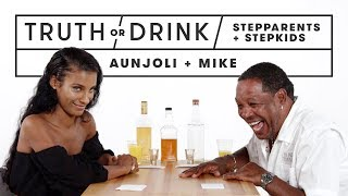 Stepparents & Stepkids Play Truth or Drink (Aunjoli & Mike) | Truth or Drink | Cut