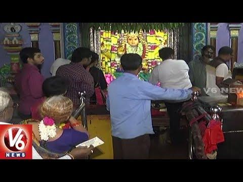Devi Sharan Navaratri 2017: Devotees Throng Warangal Bhadrakali Temple | V6 News