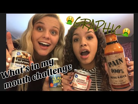 WHAT'S IN MY MOUTH CHALLENGE *GRAPHIC* | Lyv and Lex