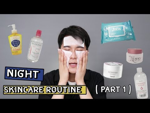 NIGHT SKIN CARE ROUTINE I WONDER BOY