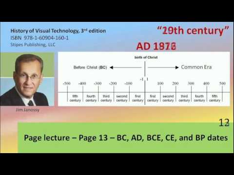 Pg 13: BC, AD, BCE, CE, and BP dates