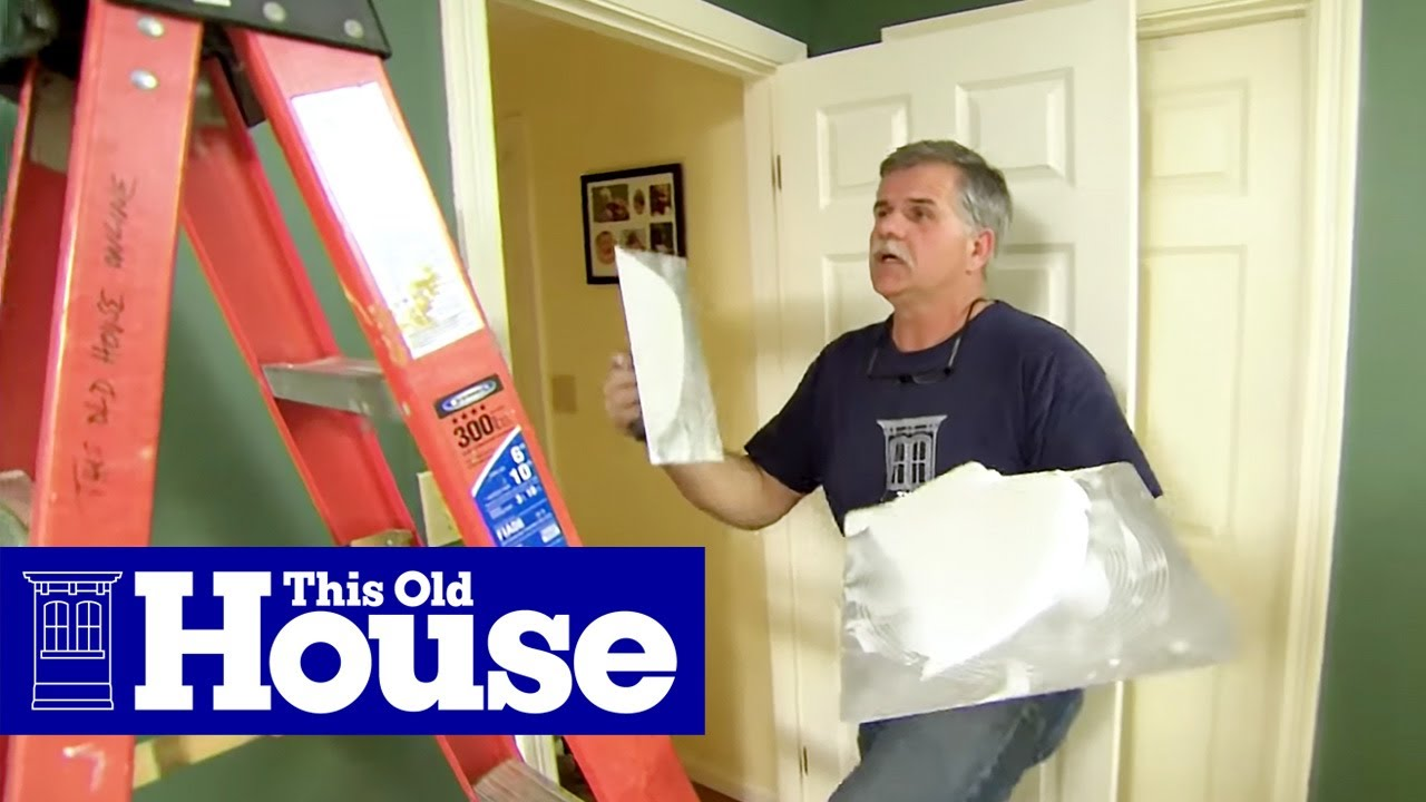 How to Repair a Cracked Drywall Ceiling - This Old House ...