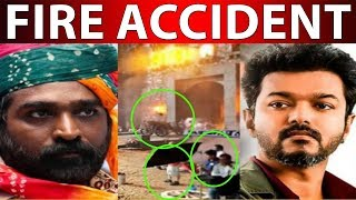 Fire accident on movie shooting set