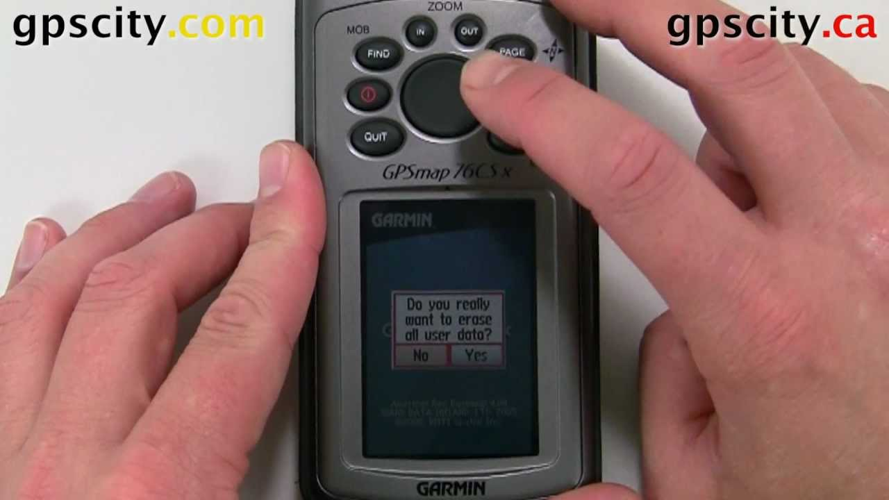How To Reset The Garmin Gpsmap 76 Series Handheld Youtube Gps 2006c Wiring Diagram