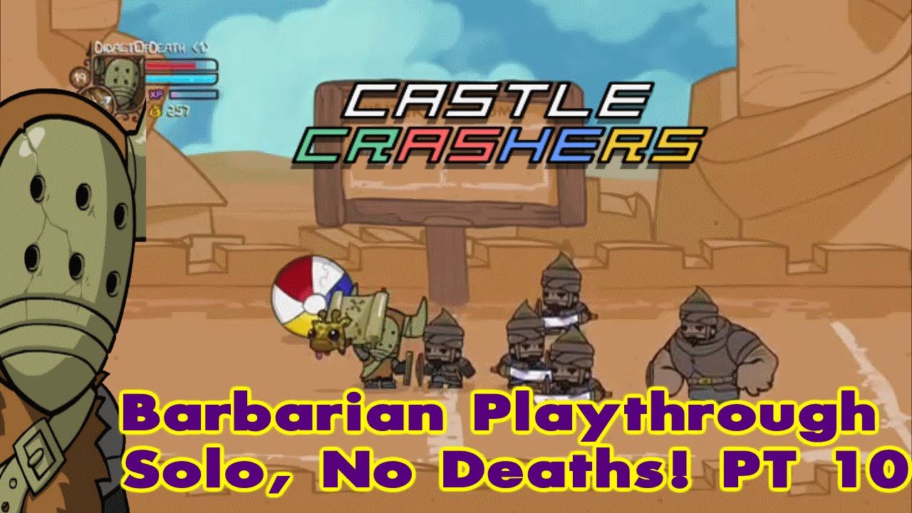 Castle Crashers Remastered Solo, 0 Deaths & Live Commentary  (Part 10)