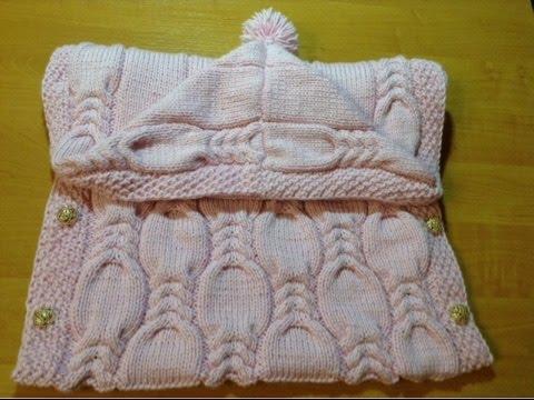 как связать конверт детский от 0 до 9 месяцев How To Tie A Blanket