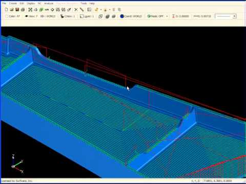 SURFCAM Tutorial - 3-Axis: Flat Surface
