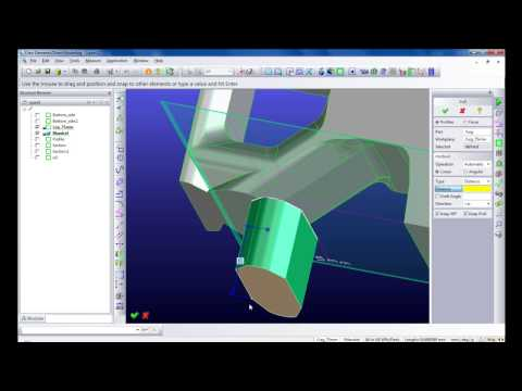 "Creating 3D model of an Aluminium Extrusion Die with ""Creo Elements/Direct"""