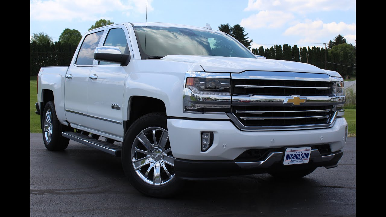 2016 chevrolet silverado 1500 high country 8 speed start up complete tour and review youtube. Black Bedroom Furniture Sets. Home Design Ideas