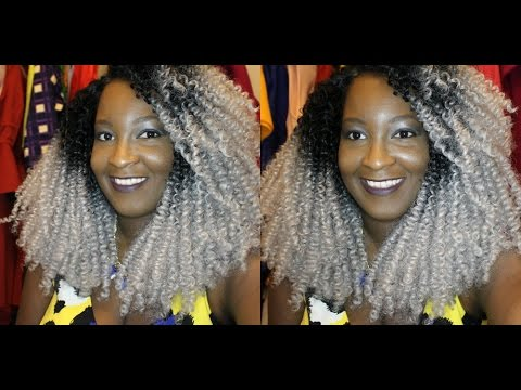aliexpress gray silver ombre kinky curly wig youtube