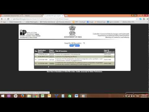 How to do Indian Patent Search