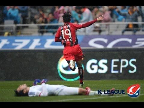 FC서울 윤주태 슈퍼매치 4골ㅣYun Jutae 4 Goals in Super Match (SkyCam+Computer Graphic, 2015)