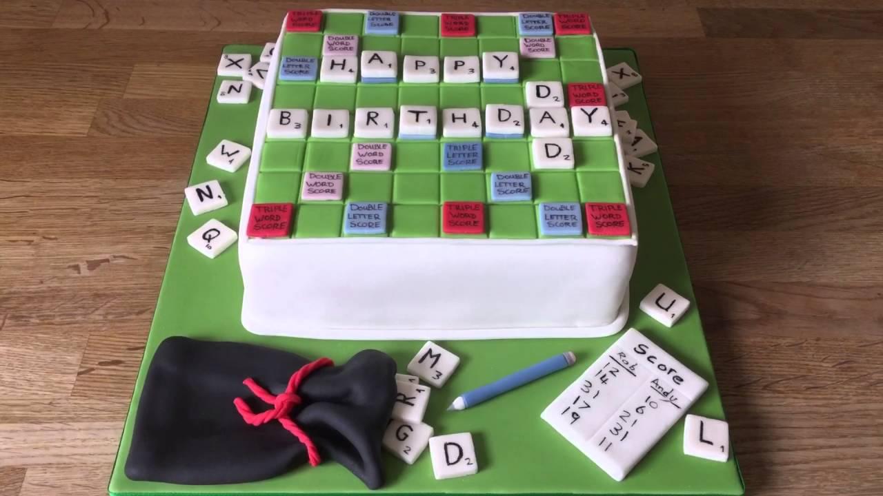 Scrabble Birthday Cake Youtube