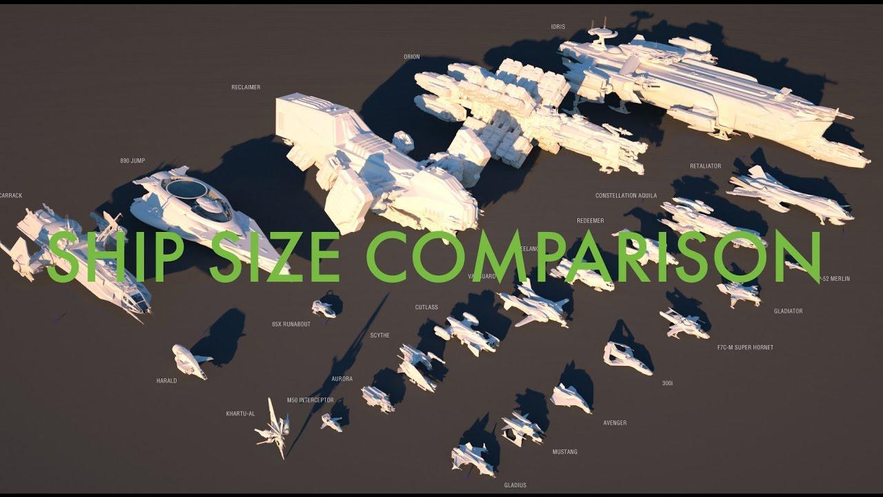 Star Citizen Ship Sizes and Classes Comparison YouTube