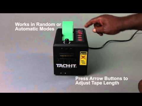 Tach-It #6250 Semi-Automatic Tab-On-Tape Definite Length Tape Dispenser