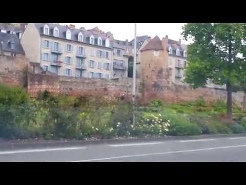 Le Mans  city.Gallo-Roman walls. FRANCE.