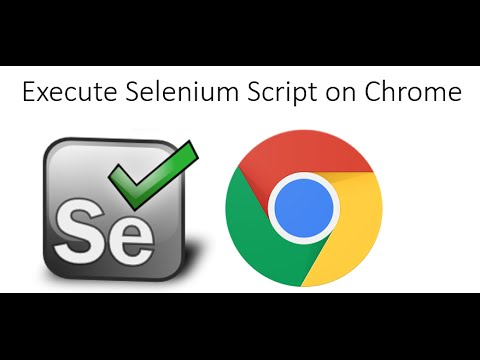 How To Run Selenium WebDriver Scripts On Google Chrome With Chromedriver