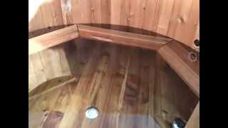 Leaking wooden hot tub