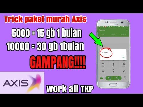 Trick Paket Murah Axis Cuma 5000 Dapat 15 Gb Bahkan Lebih Youtube