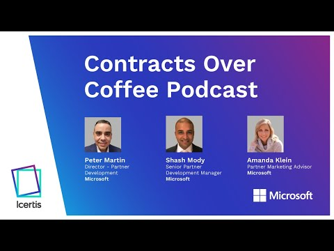 Contracts over Coffee with Microsoft's Peter Martin, Amanda Klein and Shash Mody