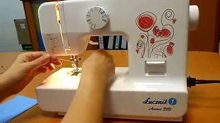 Šicí stroj Lucznik 510 Anna - navlečení a šití