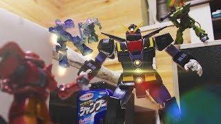 『団結!ザク小隊!』ガンプラコマ撮り | Gundam stop motion【Combination! Zaku platoon!】