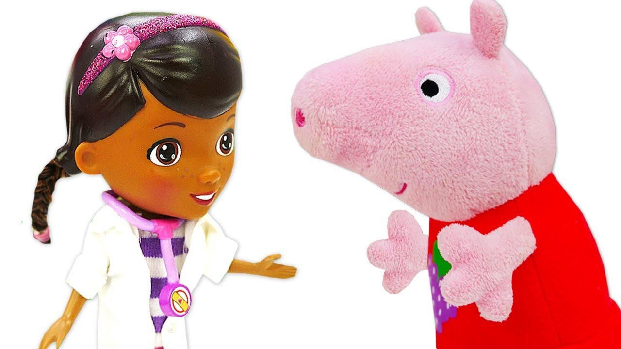 ¿Cómo protegerse del virus? Juguetes de Peppa Pig y George. Video para niños pequeños