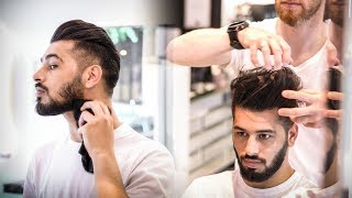 Mens Summer Haircut   BluMaan Hybrid Clay   2 Awesome Hairstyles   Messy Quiff vs. Clean Quiff