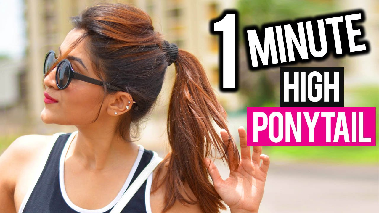 Image result for High Ponytail in 1 Minute! No Teasing, No Spray!