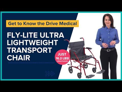 Drive Medical - Fly Lite Ultra Lightweight Transport Wheelchair