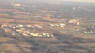Kansas City International Airport - taking off