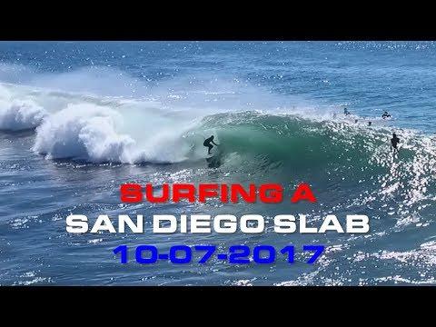 Surfing A San Diego Slab: October 07, 2017