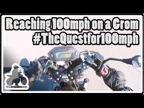 Reaching 100mph on a Grom - The Quest for 100mph