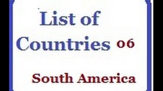 List of Countries 06