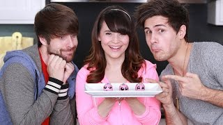 VEGAN DONUT BRONUT HOLES ft. Smosh! - NERDY NUMMIES Thumbnail
