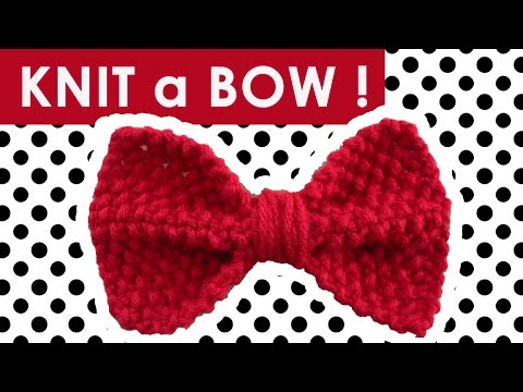 How To Knit A Bow In Seed Stitch Easy Diy For Beginning Knitters