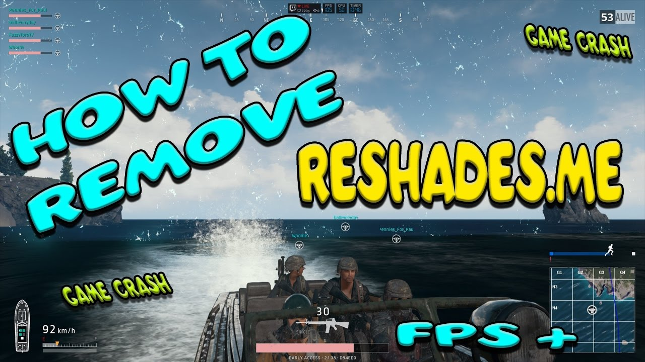 HOW TO SUCCESFULLY REMOVE RESHADES FROM PUBG