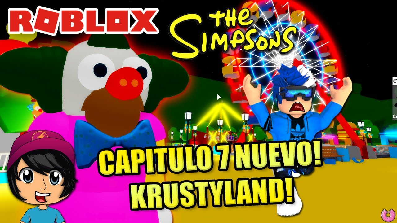 PARQUE DE JUEGOS KRUSTYLAND EN PIGGYSONS! CAPITULO 7 NUEVO! | Soy Blue | Roblox Español