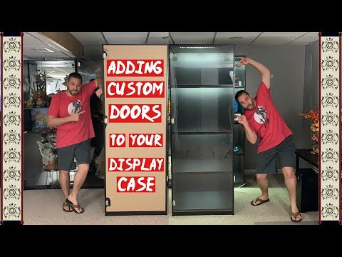 🔨🛠🔧 PART 2 - Adding Custom Acrylic Doors To Your Display Case - IKEA Pax Display Case Build
