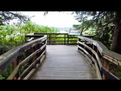 Fort Clatsop walk to canoe landing - Lewis and Clark National Historic Park
