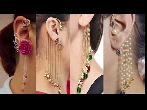 Ear Cuff Earring Silver & Gold Designs    Beautiful Gold & Diamond
