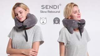 SENDI multifunctional neck pillow for airplane travel