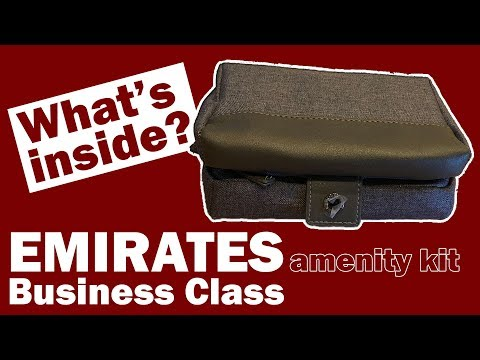 EMIRATES amenity kit for men | Business Class