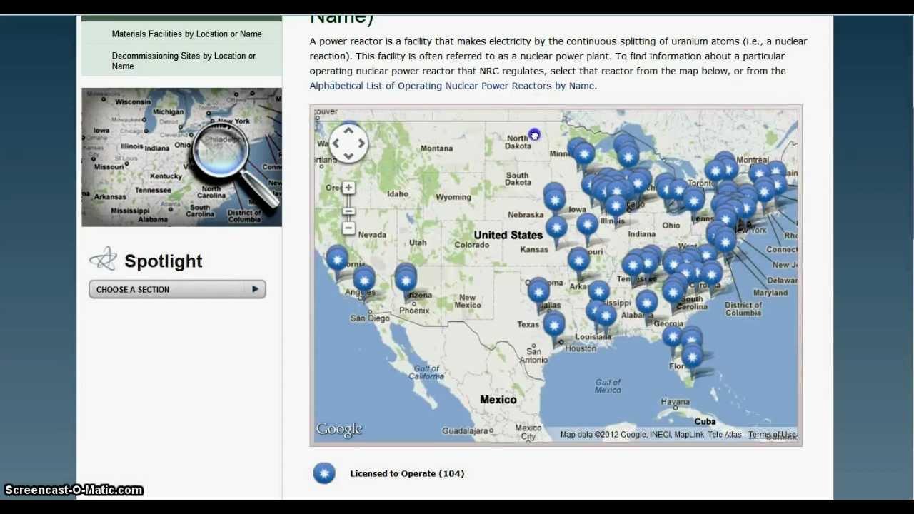 ADDENDUM 2 List of Nuclear Reactors in U.S. - YouTube