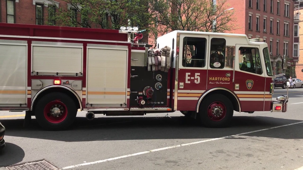 Hartford Fire Department Responding/Arriving At A Working Structure  Fire!!!!!