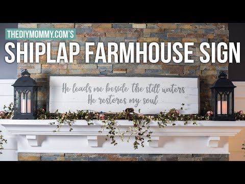 How to Make a Farmhouse Shiplap Wood Sign | The DIY Mommy